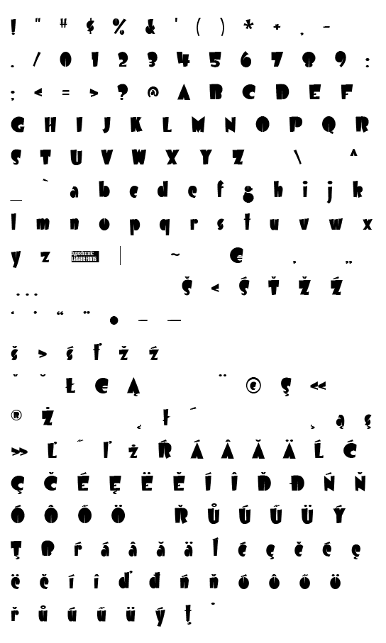 Mapa fontu Airmole