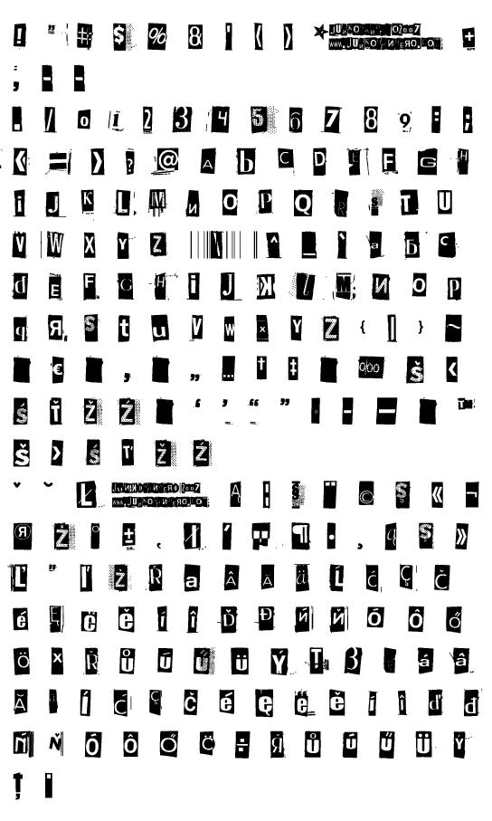Mapa fontu Phorssa