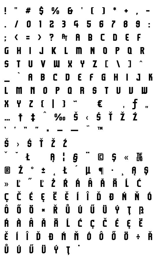 Mapa fontu Komikazoom