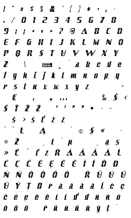 Mapa fontu Sandoval
