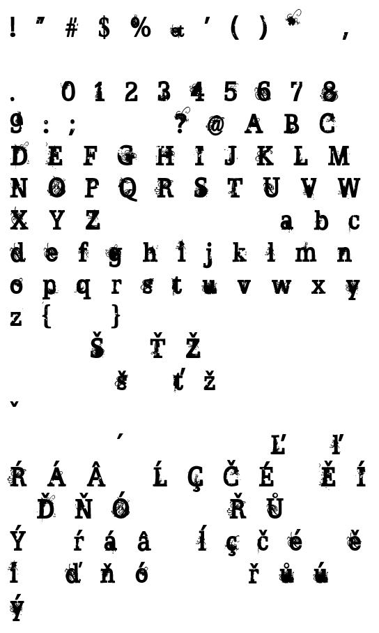 Mapa fontu Broken Ghost