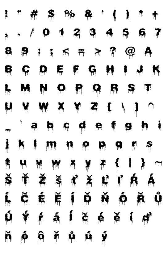 Mapa fontu Plasma Drip