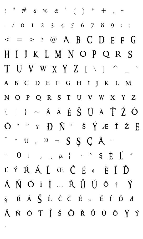 Mapa fontu Ringbearer