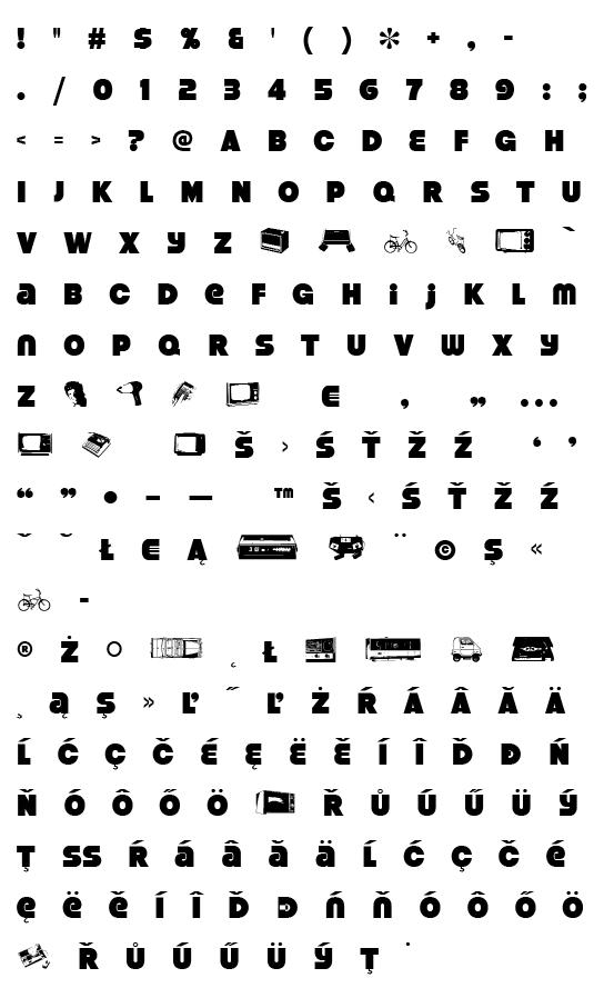 Mapa fontu Strenuous