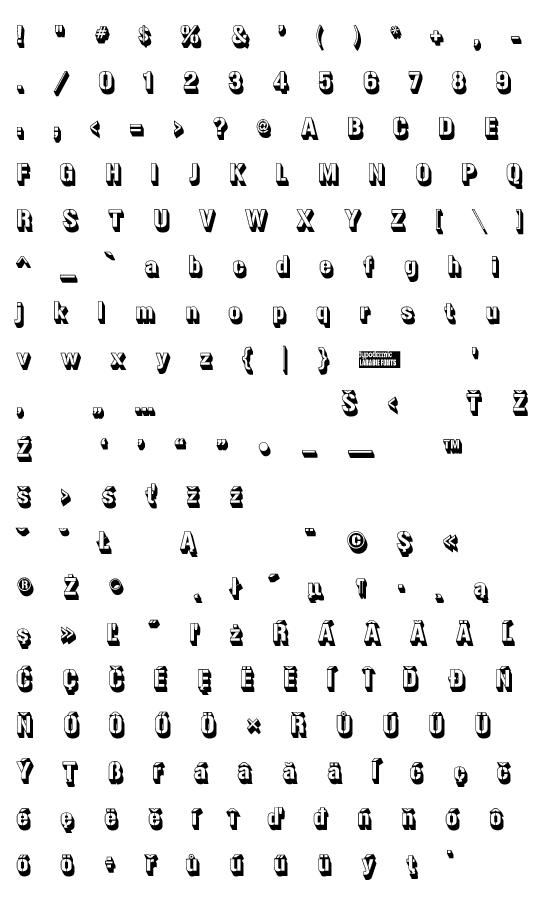 Mapa fontu Gunplay 3D