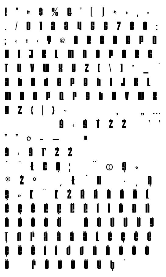 Mapa fontu Velvenda