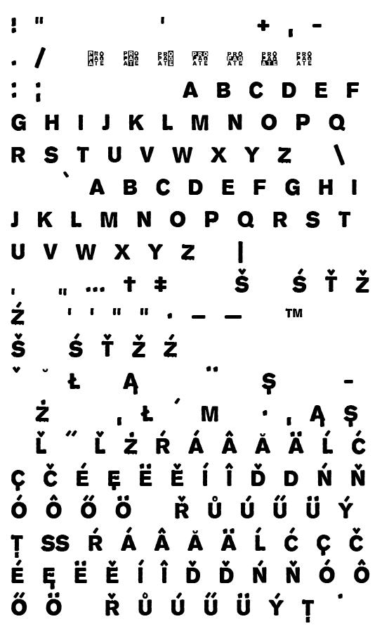 Mapa fontu Propaganda