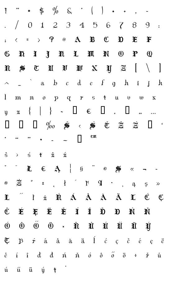 Mapa fontu Hilda Sonnenschein