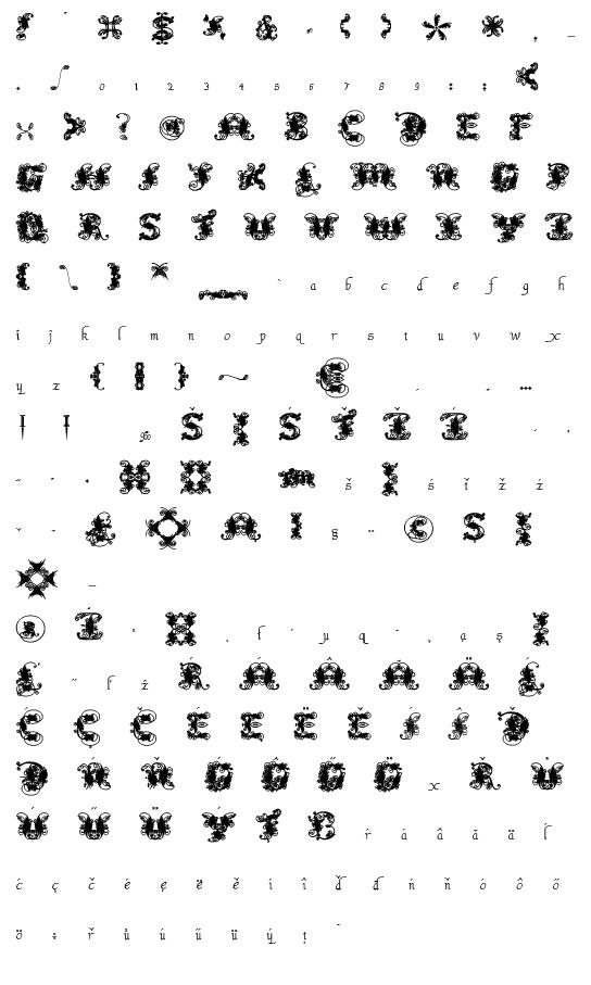 Mapa fontu Fantastic Pete