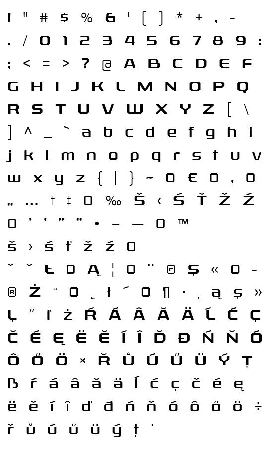 Mapa fontu Rexlia