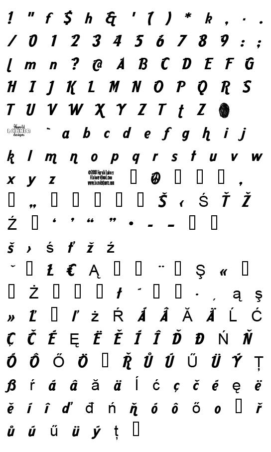 Mapa fontu Aardvark Cafe