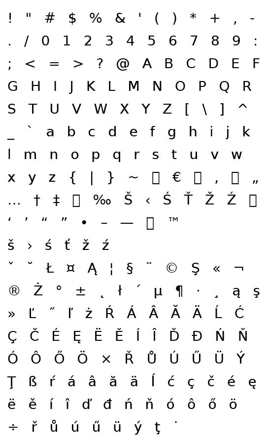 Mapa fontu Deja Vu