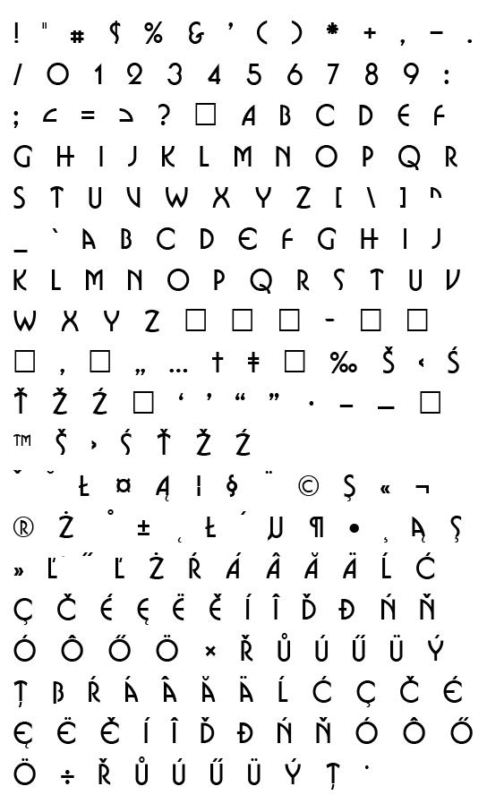 Mapa fontu Bosanova CE